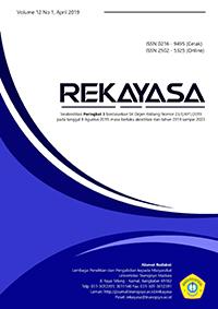 Rekayasa   Jurnal Sains dan Teknologi